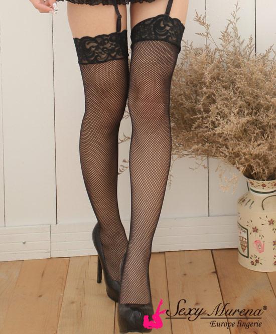 蕾絲網狀絲襪(黑)